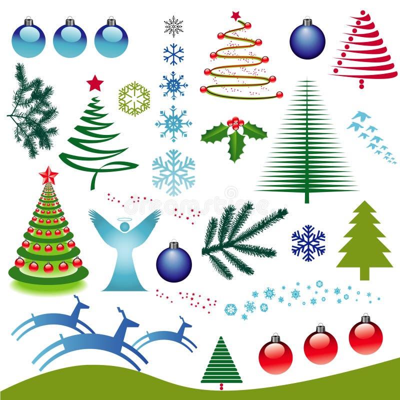 Weihnachtsikonen-Set lizenzfreie abbildung