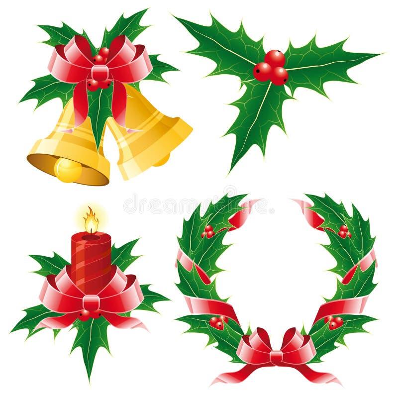 Weihnachtsikonenset stock abbildung
