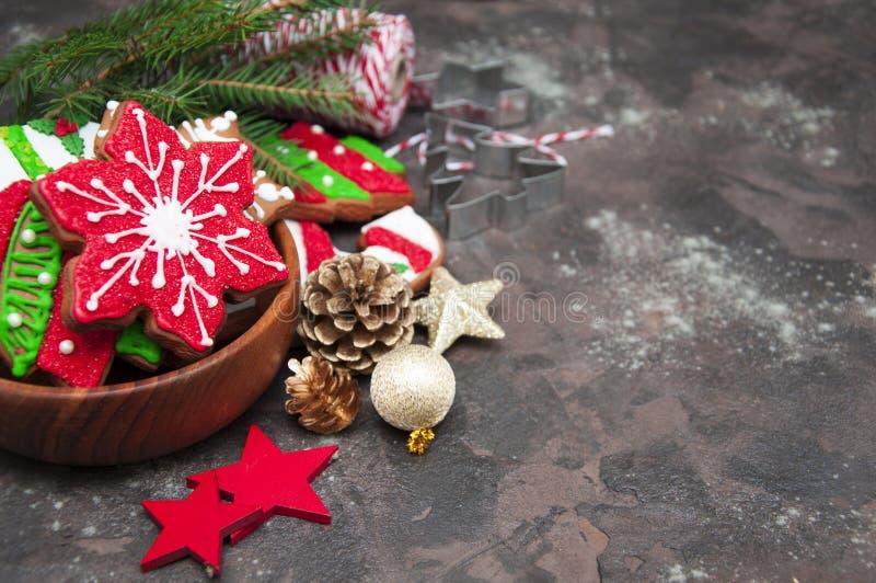 Weihnachtsingwerplätzchen lizenzfreies stockbild