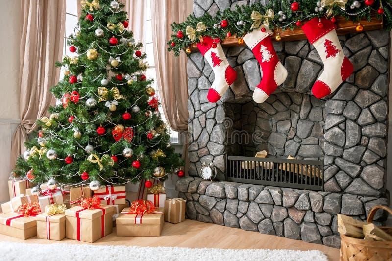Weihnachtsinnenraum lizenzfreies stockbild