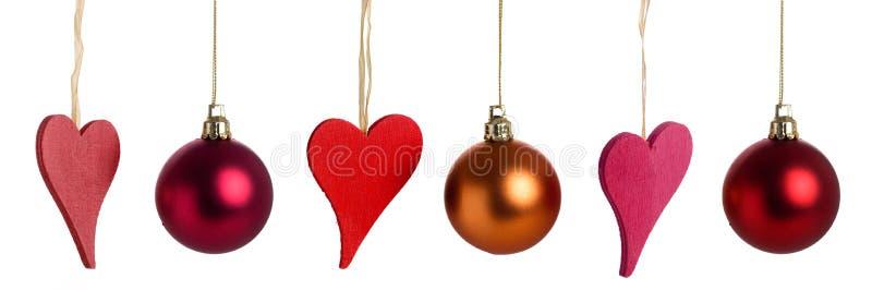 Weihnachtsinnere und -flitter lizenzfreie stockbilder