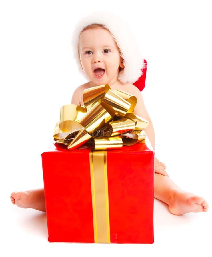 Weihnachtsjunge lizenzfreie stockfotos