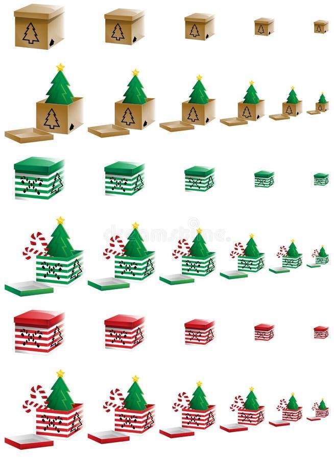 Weihnachtskästen stock abbildung