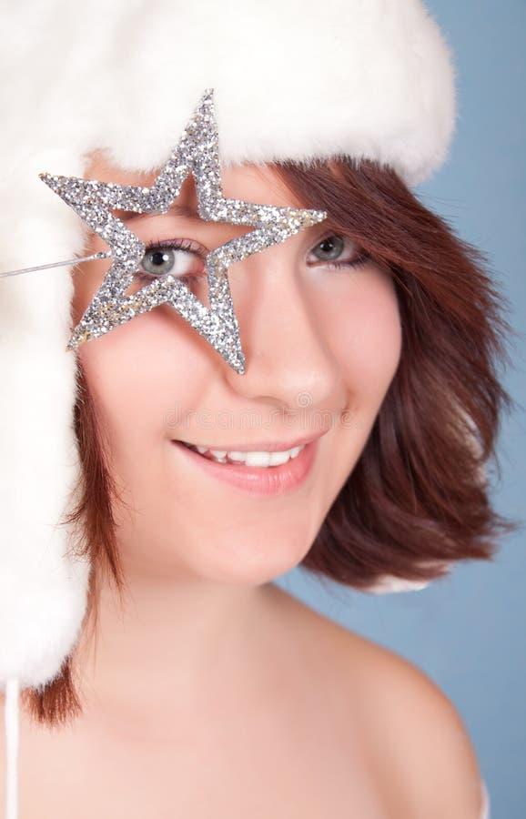 Download Weihnachtskönigin stockfoto. Bild von schätzchen, feiertag - 12202242