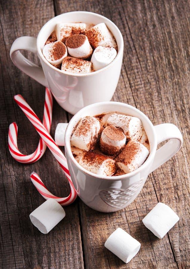 Weihnachtskakao mit Eibisch lizenzfreies stockfoto