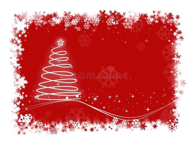Weihnachtskarte lizenzfreie abbildung