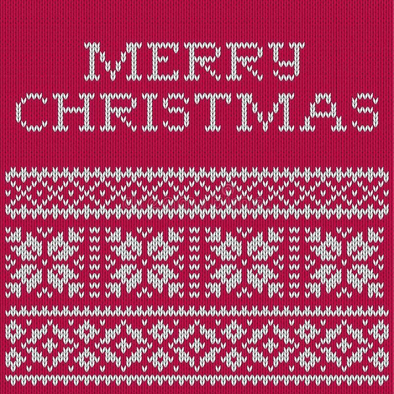 Weihnachtskarte, gestricktes Muster vektor abbildung