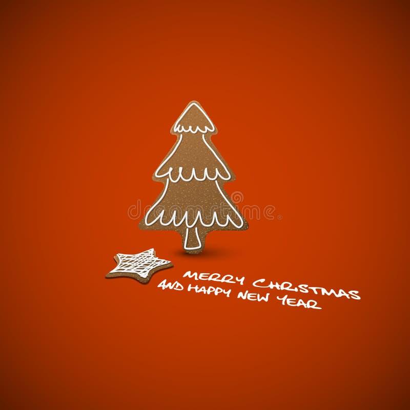 Weihnachtskarte - Ingwerbrote Mit Weißer Vereisung Lizenzfreie Stockfotografie