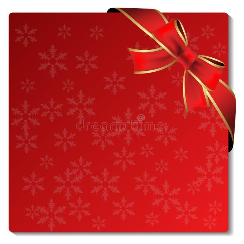 Weihnachtskarte mit Bogen stock abbildung
