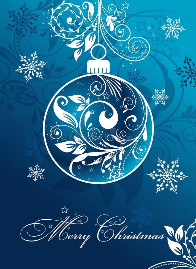 Weihnachtskarte mit einer Verzierung, Vektor vektor abbildung