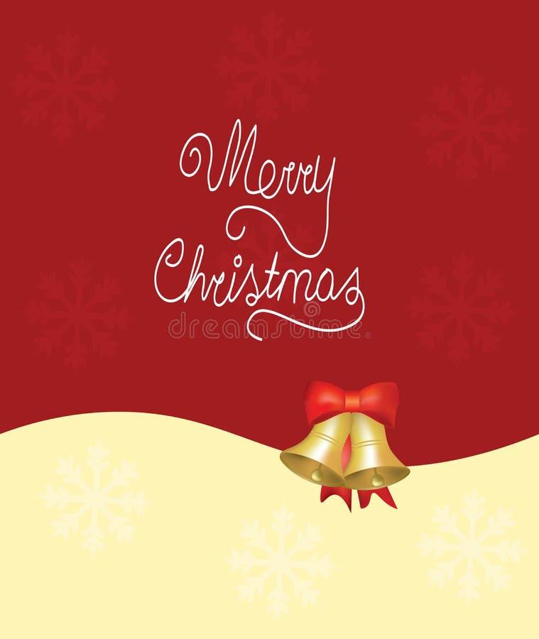 Weihnachtskarte mit Glocken lizenzfreie abbildung