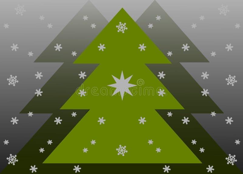 Weihnachtskarte mit Schneeflocken lizenzfreie abbildung