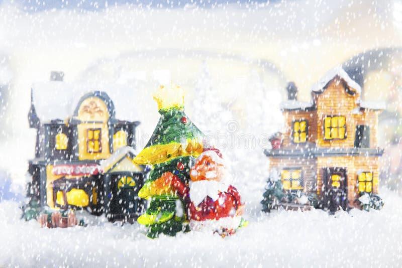 Weihnachtskarte mit Weihnachtsmann lizenzfreie stockfotografie