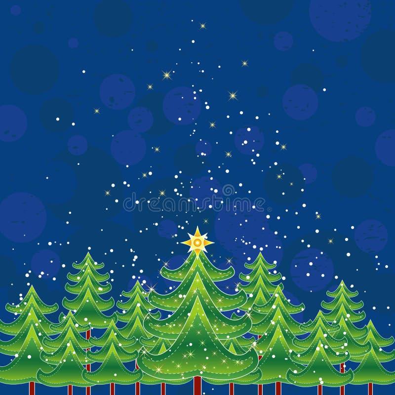 Weihnachtskarte, Vektor lizenzfreie abbildung