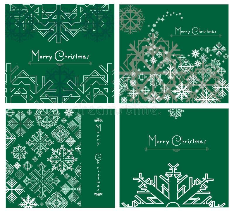 weihnachtskarten vektor abbildung illustration von dekor. Black Bedroom Furniture Sets. Home Design Ideas
