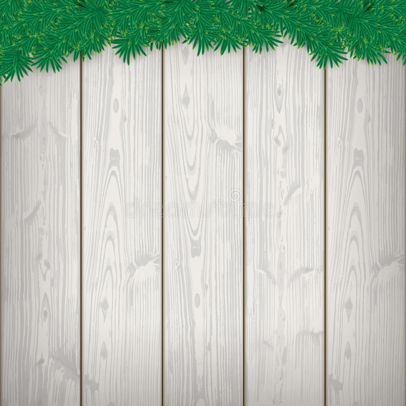 Weihnachtskarten-hölzerne Latten-Zweige stock abbildung
