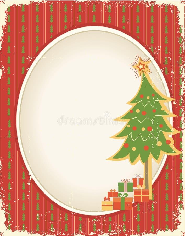 Weihnachtskartenhintergrund vektor abbildung