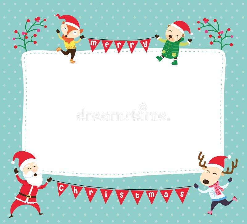 Weihnachtskartenschablone vektor abbildung