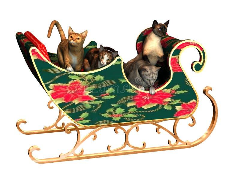 Weihnachtskatzen lizenzfreie abbildung
