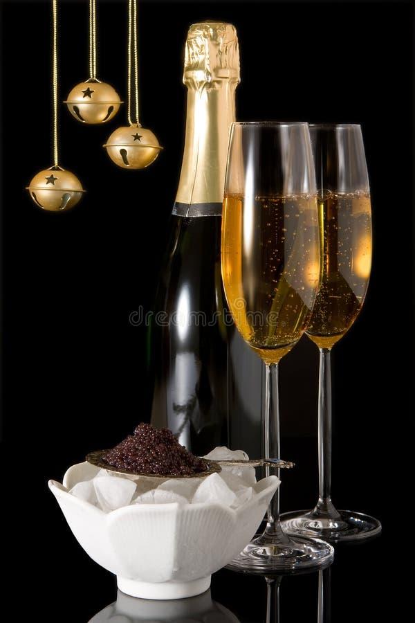 Weihnachtskaviar stockbild