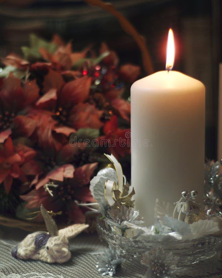 Weihnachtskerze lizenzfreies stockfoto