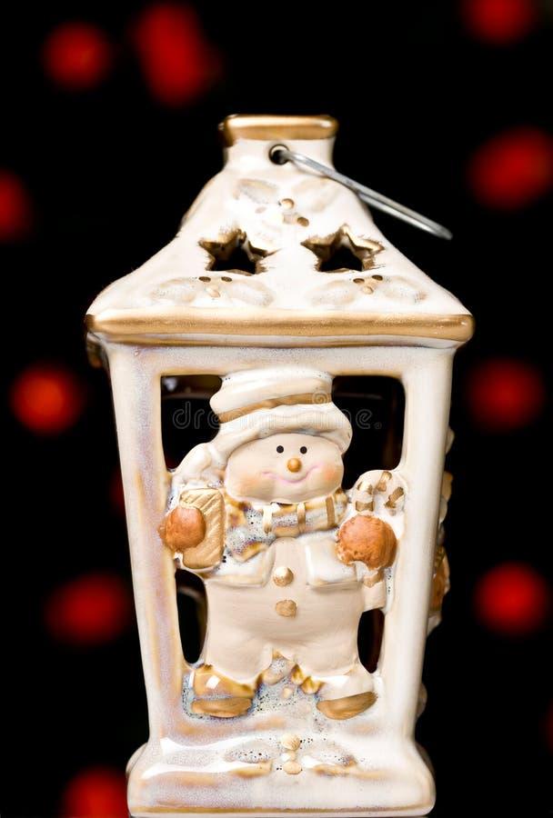 Weihnachtskerzehalterung lizenzfreies stockbild