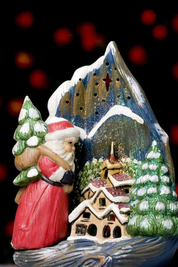 Weihnachtskerzehalterung stockbilder