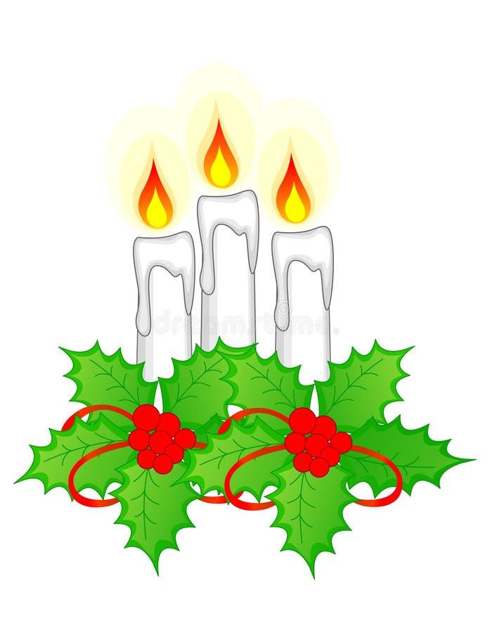 Weihnachtskerzen stock abbildung