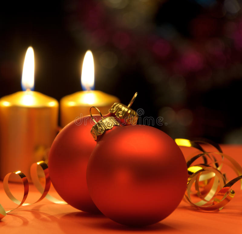 Weihnachtskerzen stockbild