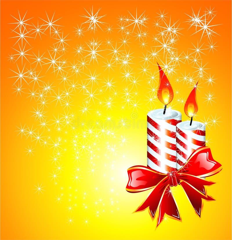 Weihnachtskerzen lizenzfreie abbildung