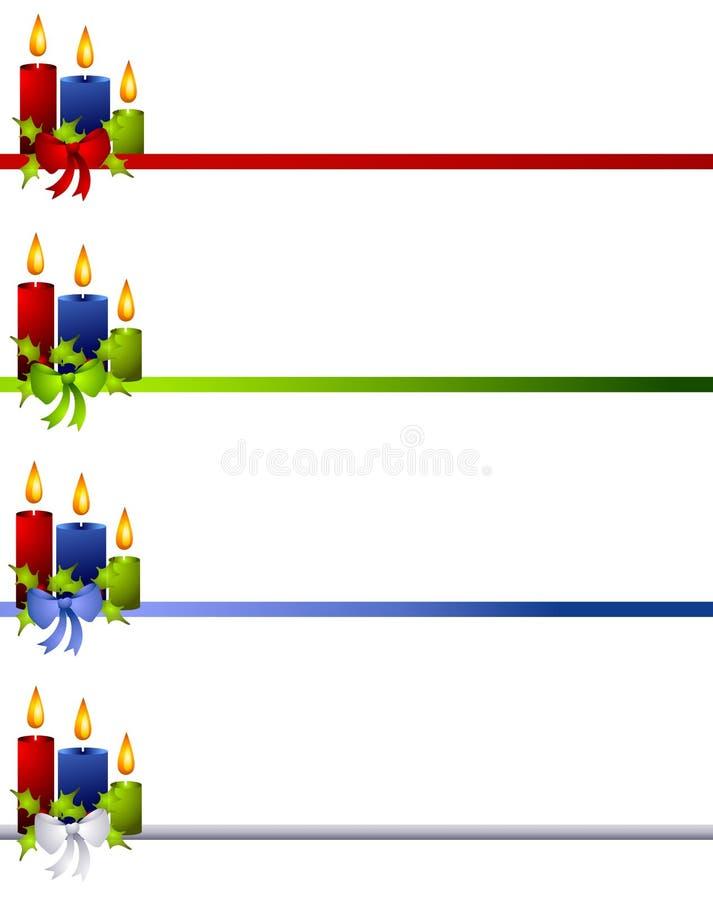 Weihnachtskerzen und Bogen-Teiler lizenzfreie abbildung