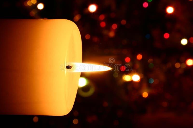 Weihnachtskerzenahaufnahme lizenzfreie stockbilder