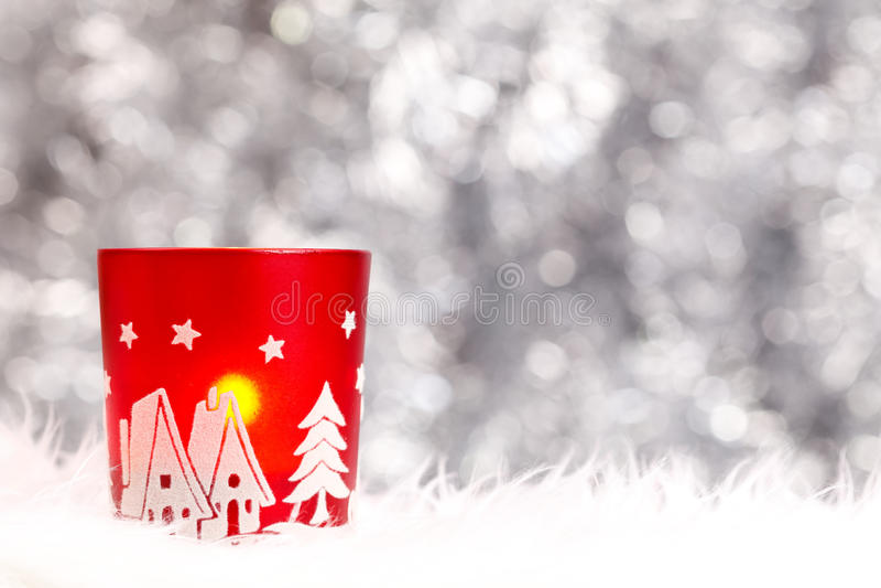 Weihnachtskerzenhalter stockfoto