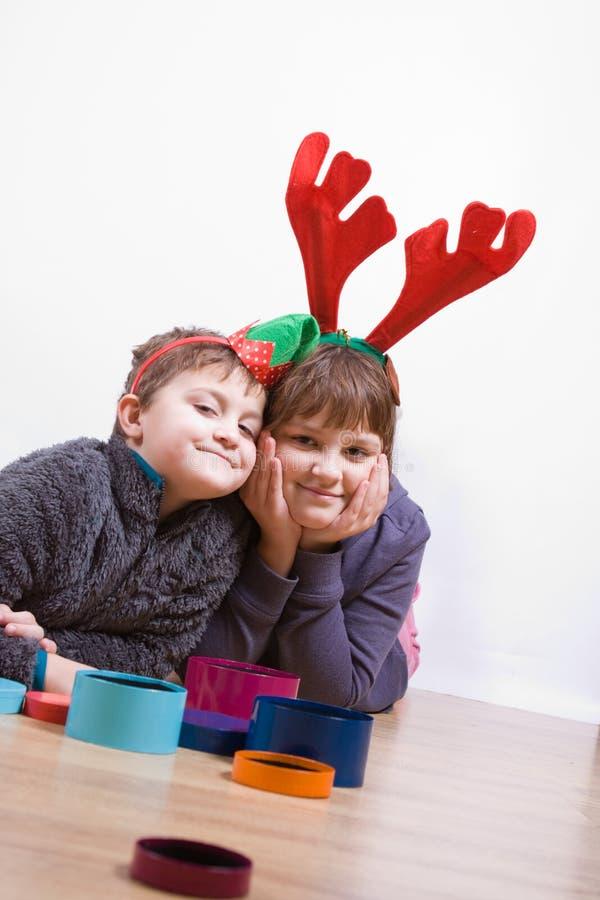 Weihnachtskinder stockbilder
