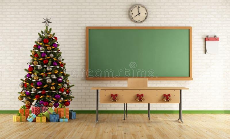 Weihnachtsklassenzimmer lizenzfreie abbildung