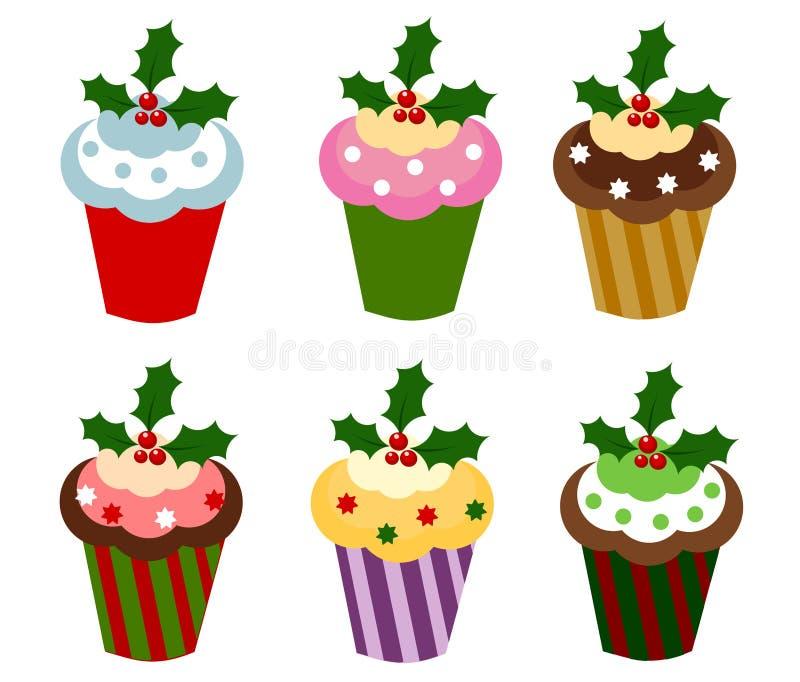 Weihnachtskleine kuchen lizenzfreie abbildung