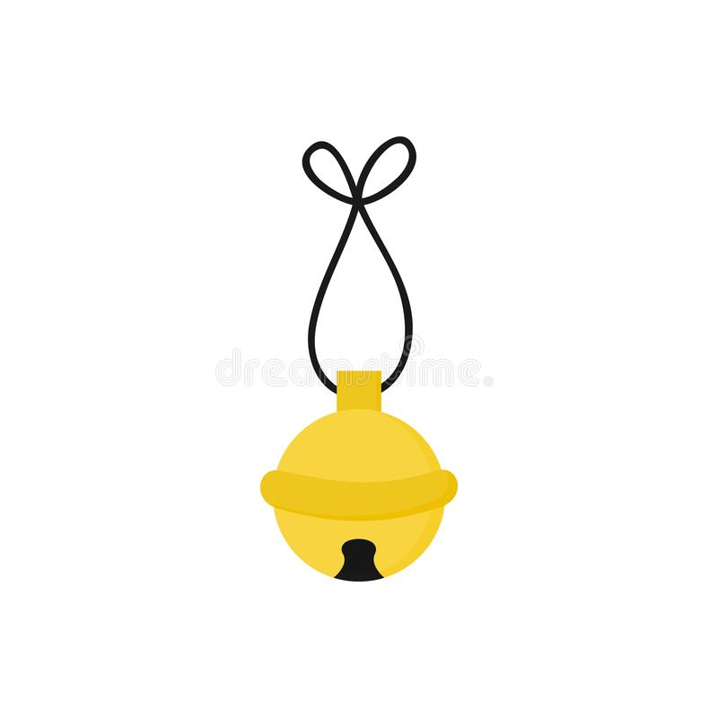 Weihnachtsklingelglocken-Vektorikone stock abbildung