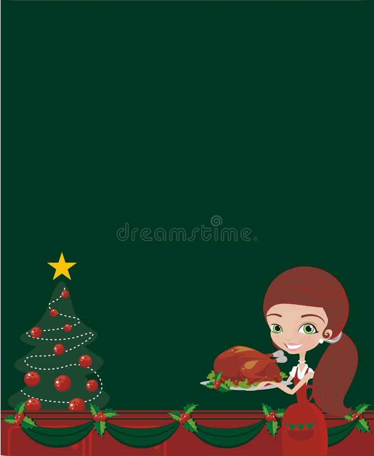 Weihnachtskoch stock abbildung