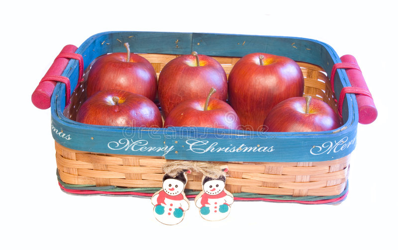 Weihnachtskorb. stockbild