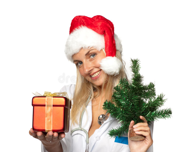 Weihnachtskrankenschwester lizenzfreie stockfotografie
