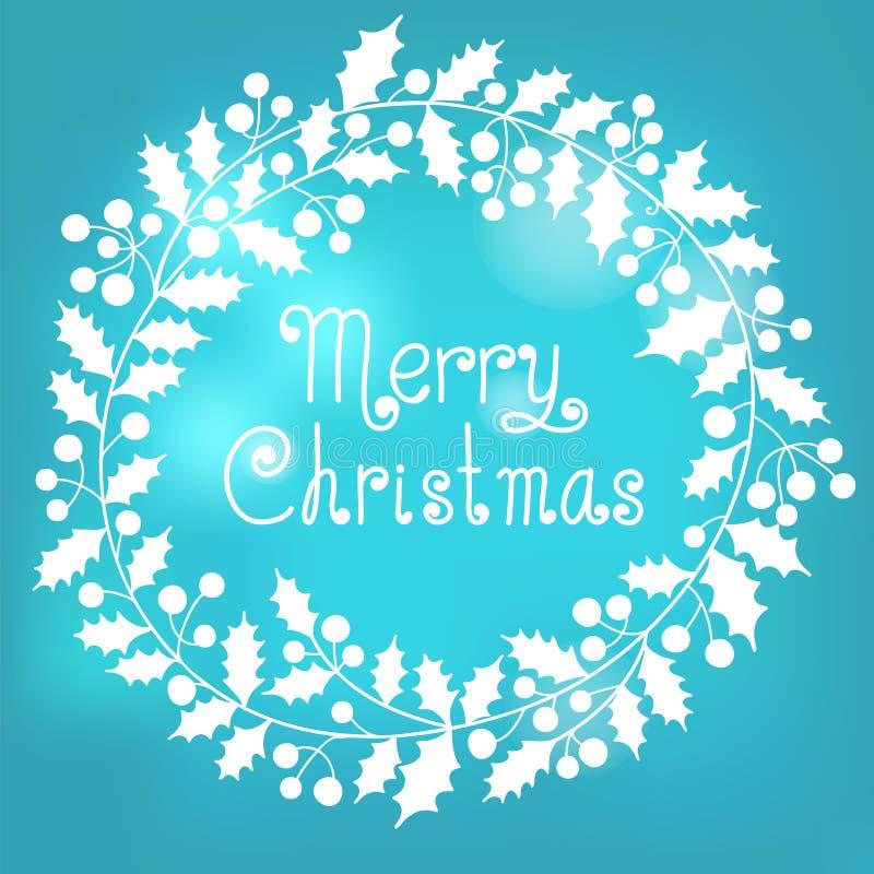 Weihnachtskranz stock abbildung