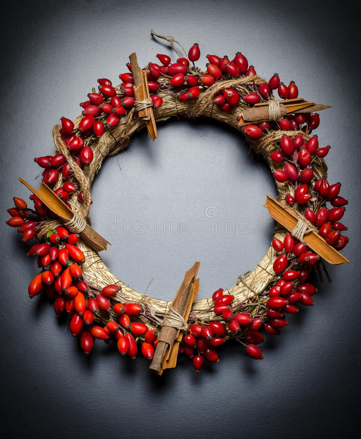Weihnachtskranz lizenzfreies stockfoto