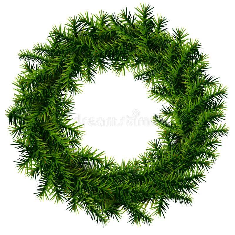 Weihnachtskranz ohne Dekoration lizenzfreie stockfotografie