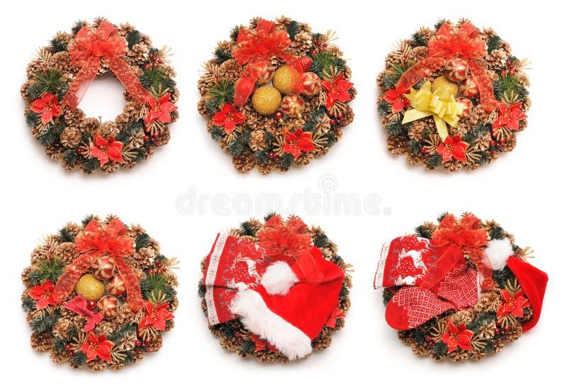 Weihnachtskranz-Sammlung stockfoto