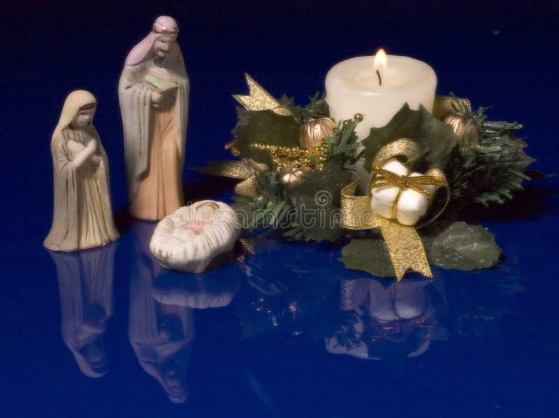 Weihnachtskrippe stockbild