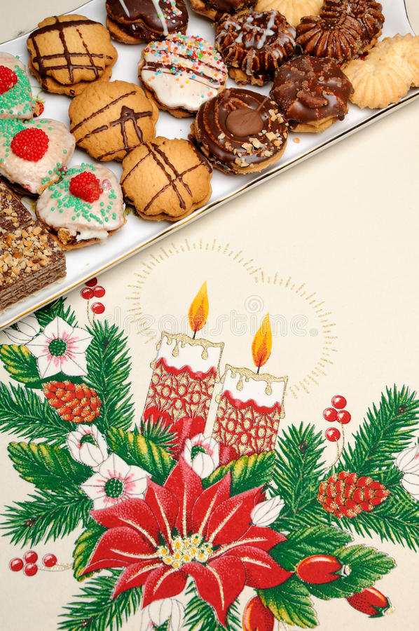 Weihnachtskuchen lizenzfreie stockfotos