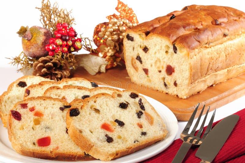 Weihnachtskuchen. Panettone. stockbild