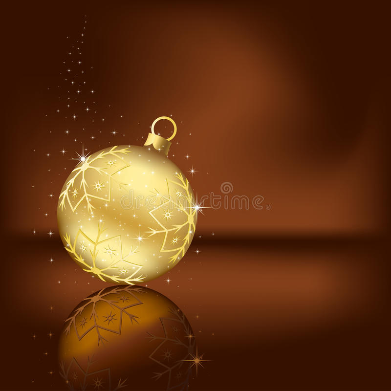 Weihnachtskugel lizenzfreie abbildung