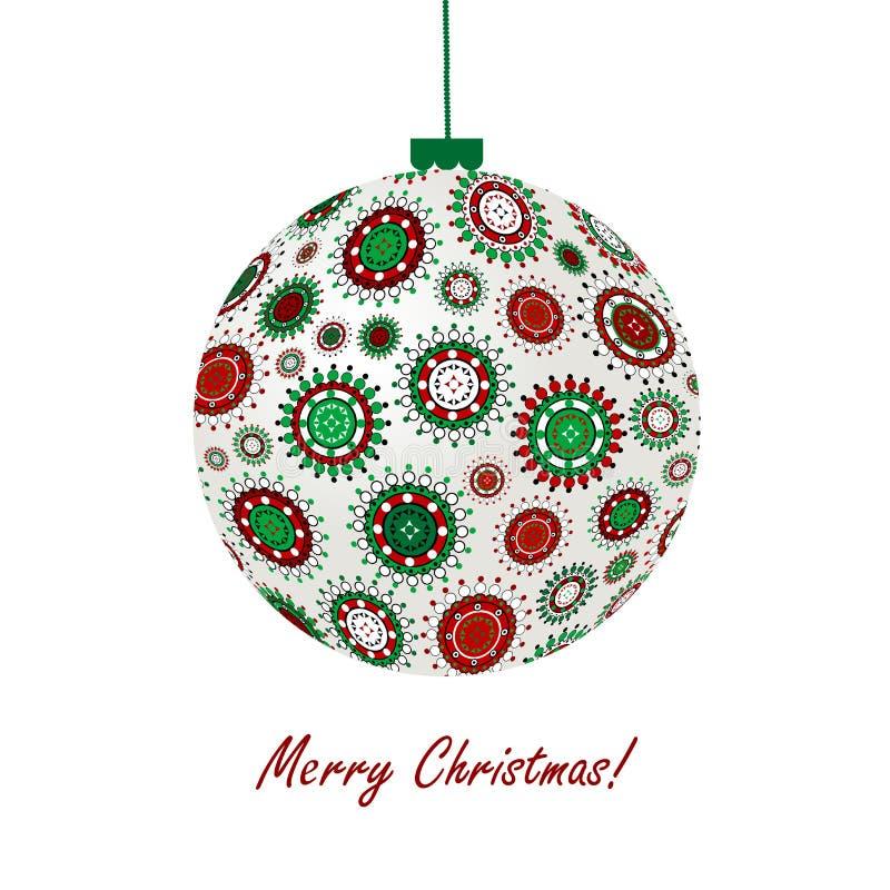 Weihnachtskugel gebildet von den Schneeflocken vektor abbildung