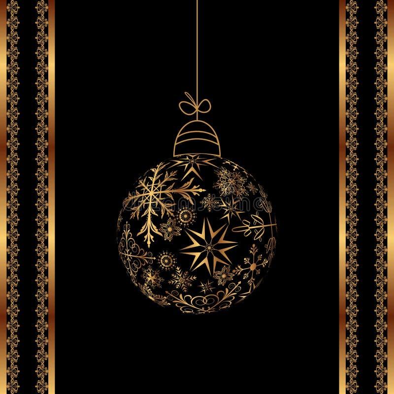 Weihnachtskugel gebildet von den Schneeflocken getrennt vektor abbildung